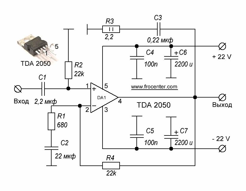Усилитель на TDA2050
