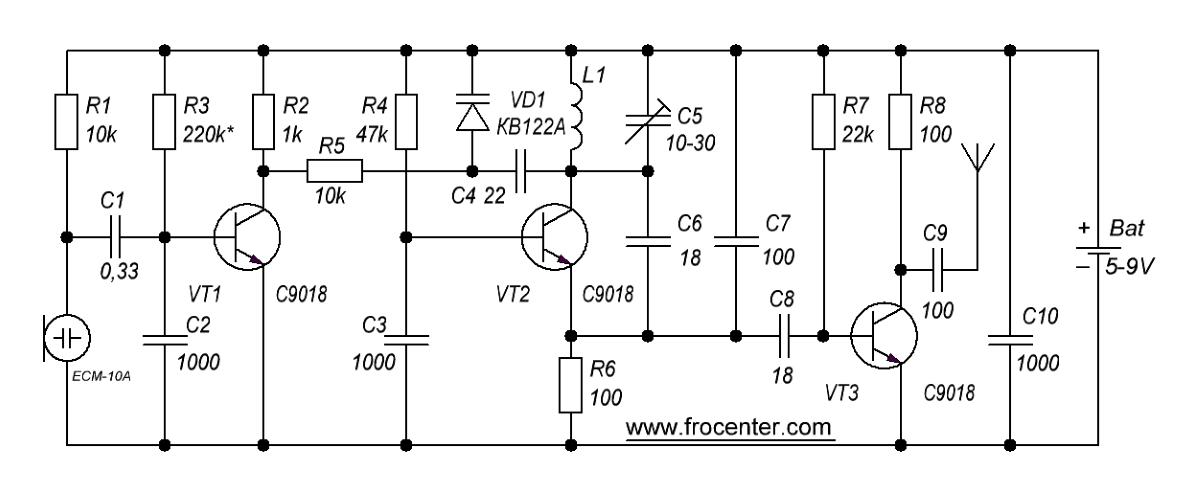 Схема УКВ передатчика