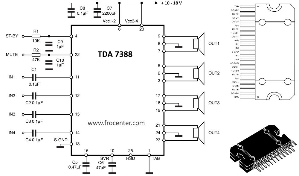 Усилитель на tda7388